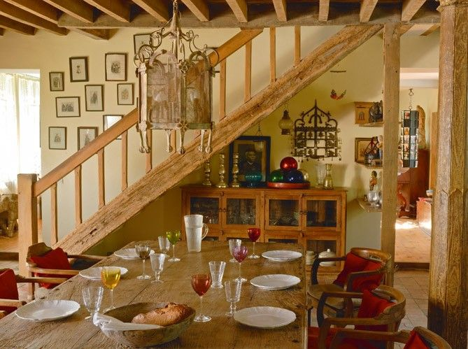 ...I want the display piece under the stairs...Restored farmhouse in France