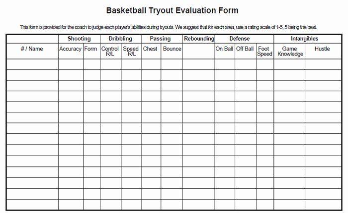 Basketball Player Evaluation Form Lovely Utah Basketball Score Evaluation Form Basketball Tryouts Evaluation