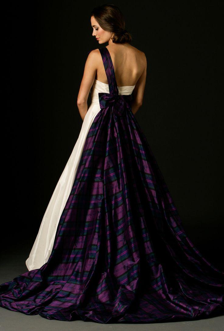 Tartan wedding gown
