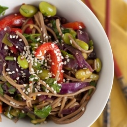 ... summer salad with soba noodles and tons of fresh veggies. Vegan, too