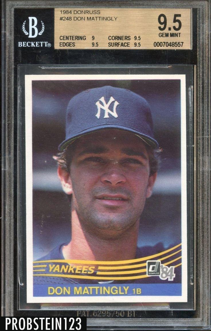 1984 donruss don mattingly baseball cards yankees baseball