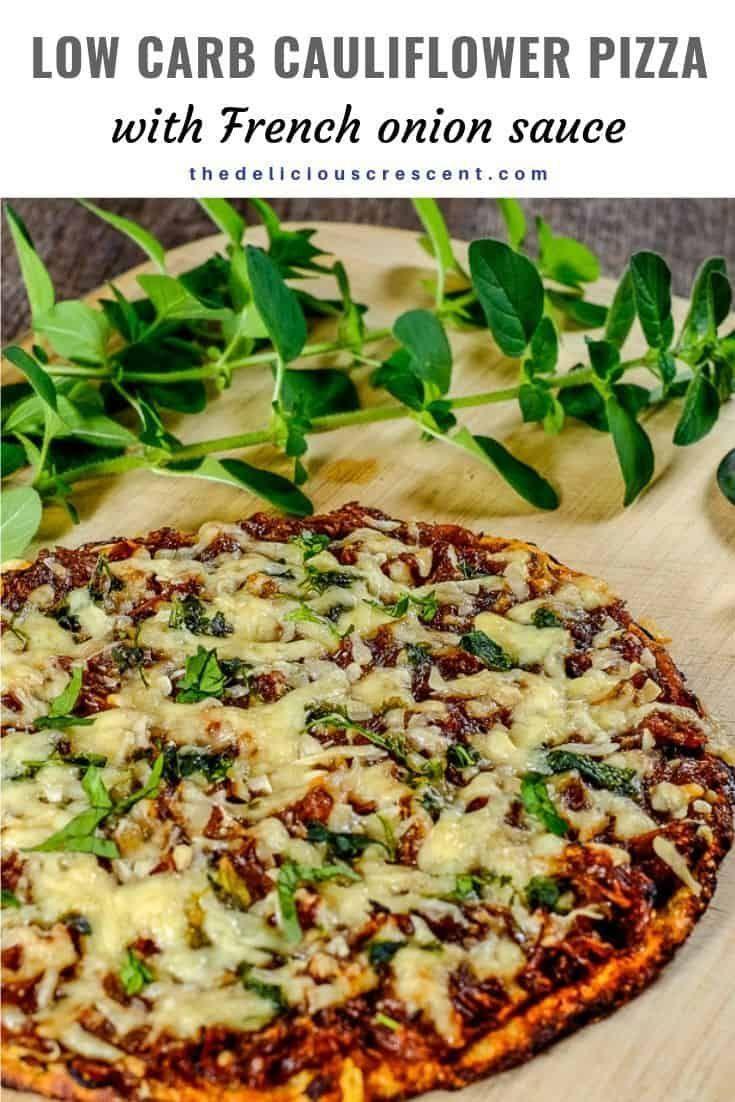 Niedrige Carb Blumenkohl-Pizza mit französischer Zwiebelsoße   – Best Gluten Free Recipes