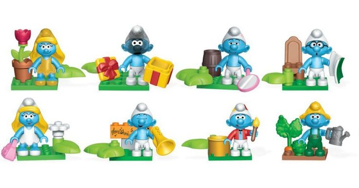 Die Schlümpfe - Mega Bloks Mini Figuren (24 ct.) Spielwaren Movie & TV…