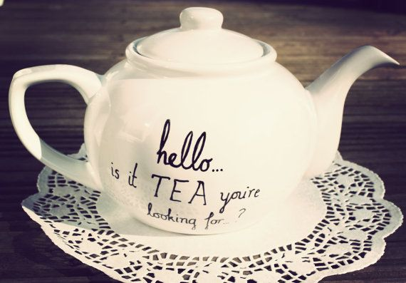 Lionel Richie teapot hand drawn by Mr Teacup by MrTeacup on Etsy, $51.00. Funny!