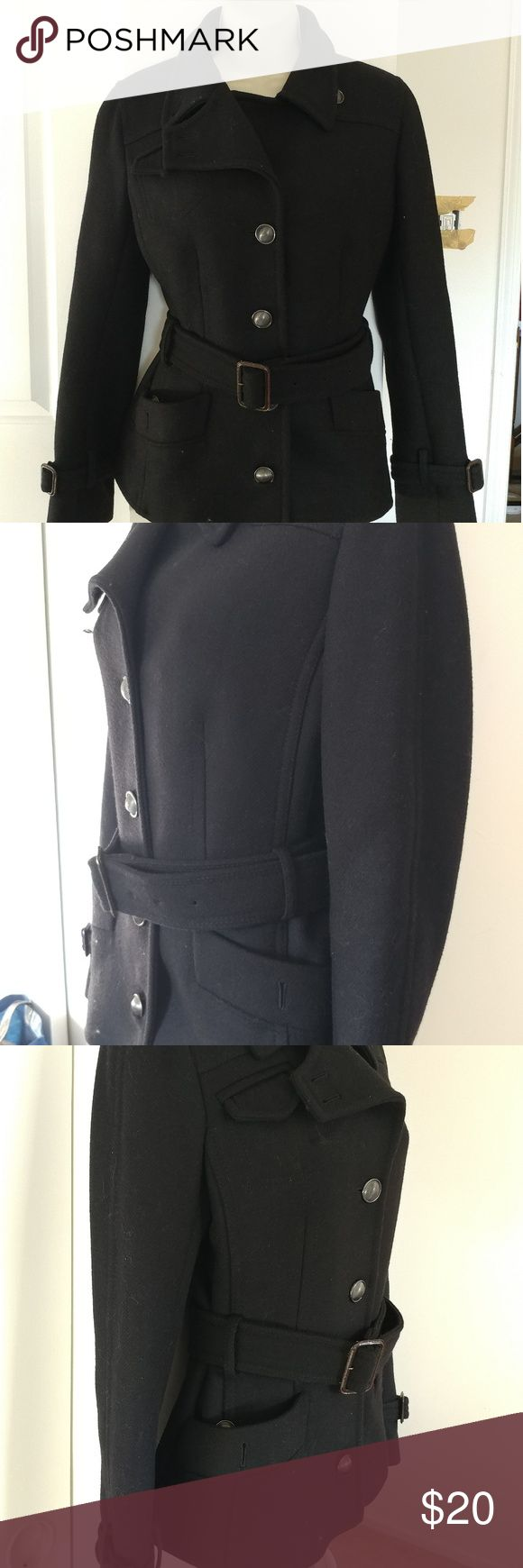 Black fall peacoat This is a Cold Haan size 2 fall peacoat. Barely worn and priced to sell. Feel free go message if you have an offer or any questions. Cole Haan Jackets & Coats Pea Coats