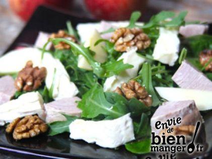La salade normande au Camembert de Campagne et à l'andouille de Vire