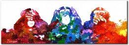 Schilderij Horen, zien en zwijgen van Zenon bij Kunstvoorjou.nl #kunstvoorjou #schilderij #zenon #apen #threewisemonkeys