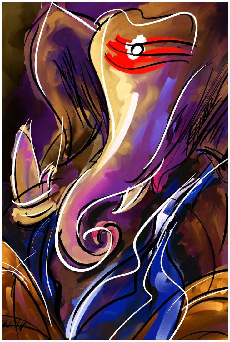 Abstract Art - MahaGanpati Vinayak - Ganesha Painting Collection - Buy A3 Poster | Starting from Rs. 199