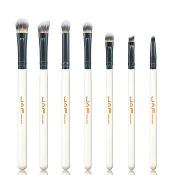 Varejo JAF 7-piece Makeup Eye Brushes Set Pincéis de Maquiagem Shader Escova De Mistura para a Sombra de Olho Maquiagem Acessório JE07ST