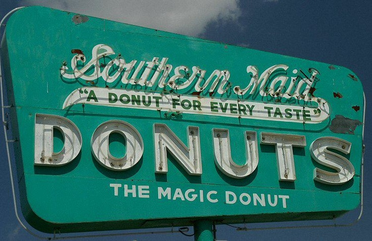 Southern Maid Donuts sign. Odessa, Texas.
