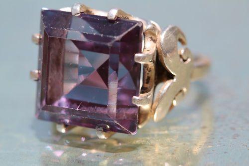 Alexandrite Ring Silver