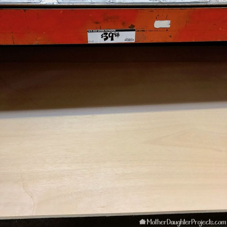 These shelves are perfect for displays. One Sheet of Plywood Floating Shelf