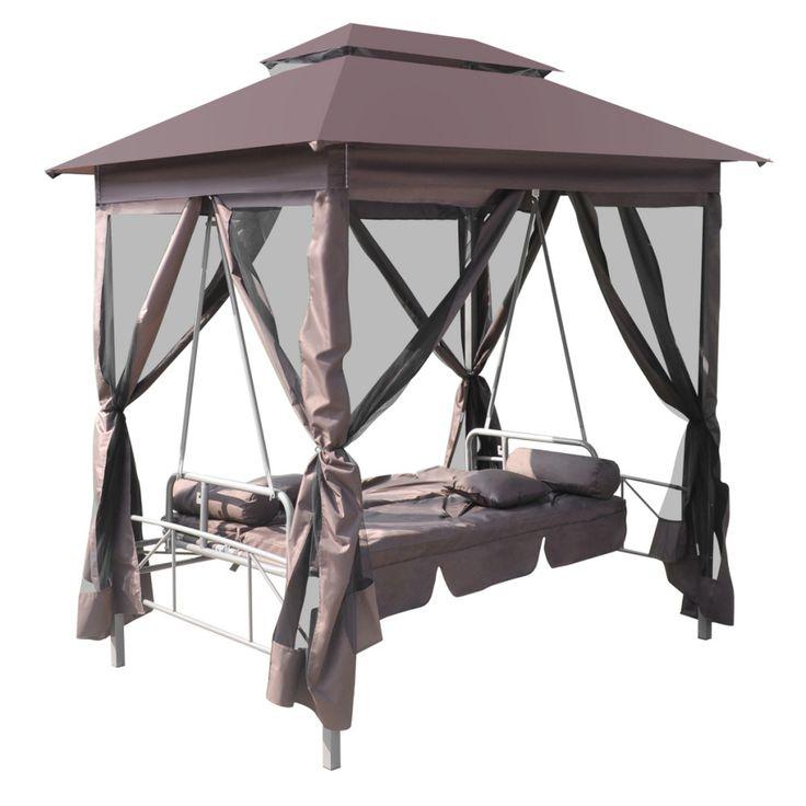 Outdoor Canopy Swing Chair Gazebo Bed Set Metal Steel Frame Patio Furniture SALE
