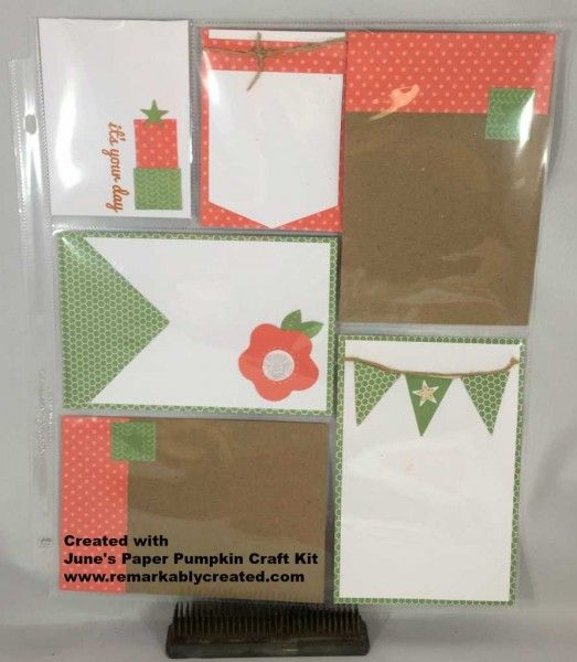 June Paper Pumpkin Craft Kit - alternative idea  - subscribe today - www.remarkablycreated.com