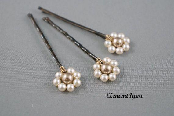 Regalo de perla horquillas pelo accesorios por Element4you en Etsy