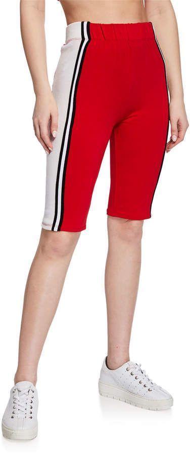 June Stripe Tape Biker Shorts   – Products – #Biker #June #Products #Shorts #str…   – Biker Shorts