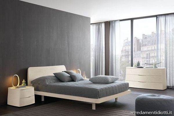 Modern and Chic Arredamenti Diotti A&F Bedroom Sets | Gray and white bedroom set