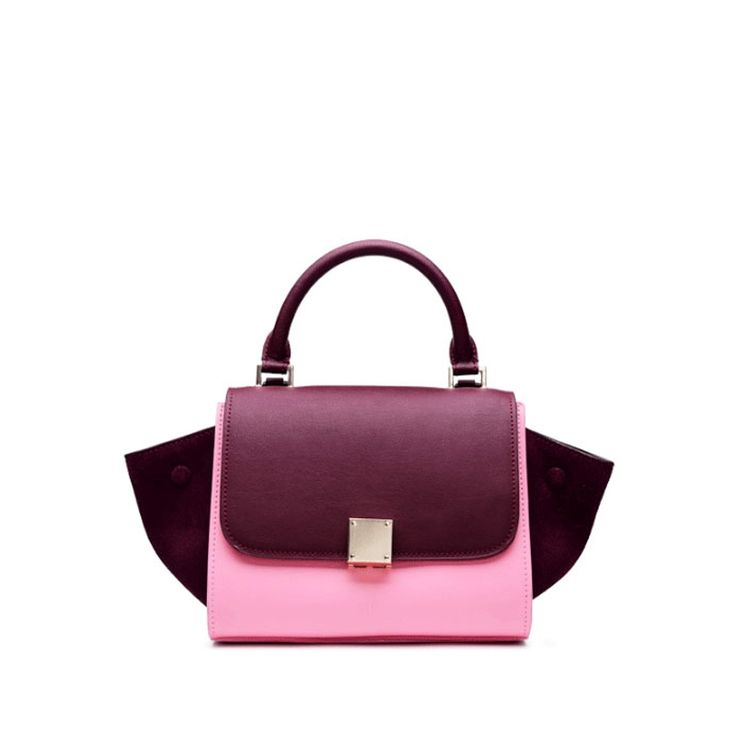 Aliexpress.com : Buy New 2016 Brand Design Women Panelled Trapeze Bag Wings Tote Genuine Leather Handbags For Female Lady Messenger Bags an324 from Reliable handbag findings suppliers on Madman Trade Co., Ltd.