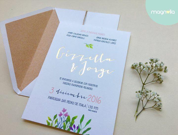 Invitaciones botánicas  #BotanicWedding #WeedingInvitations #Wedding #Gold