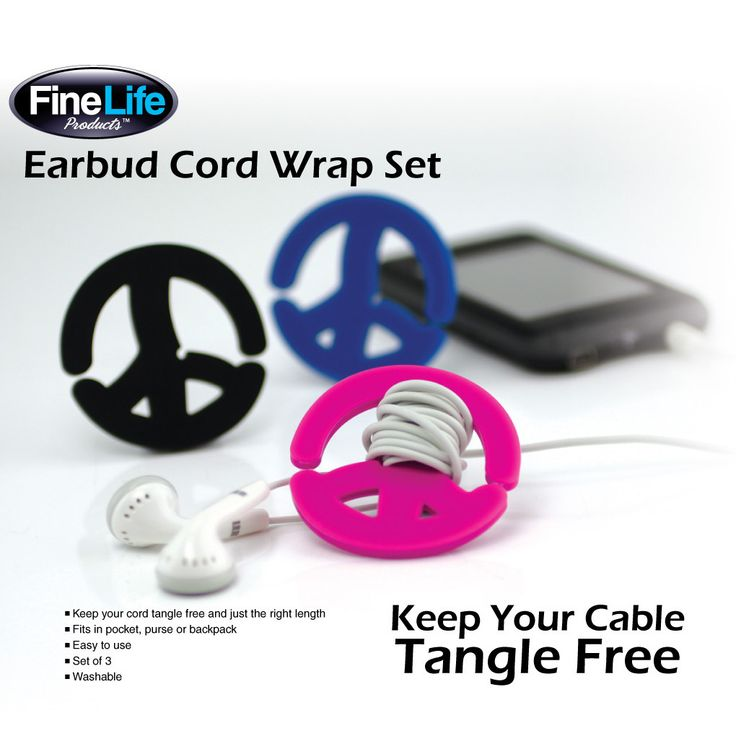 No matter how carefully you store your headphone earbuds, they always seem to tangle and twist. But you won't have that problem anymore thanks to this trio of ingenious cord wraps! They are easy to us
