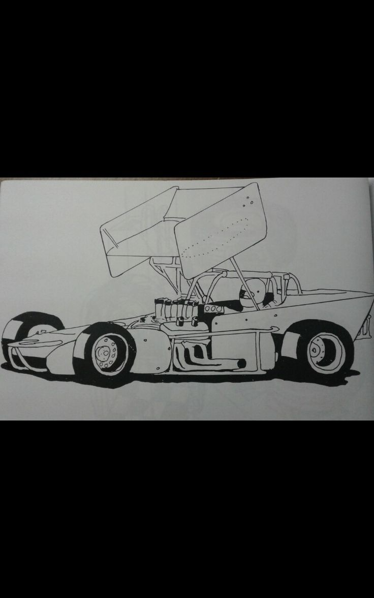 Oval Track Racing Art Supermodifieds Wings Art Drawing Coloring Print Cars Free Download Kidsc Race Car Coloring Pages Racing Art Cars Coloring Pages