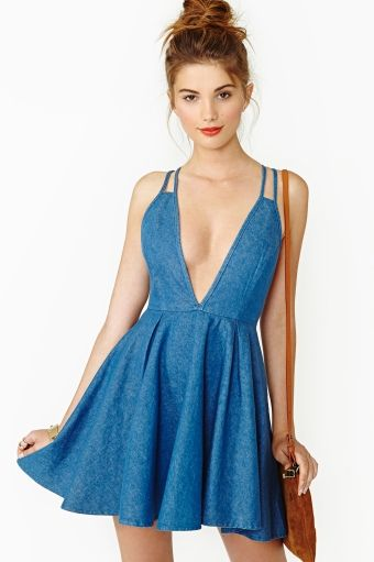 Summer Days Denim Dress $68.00