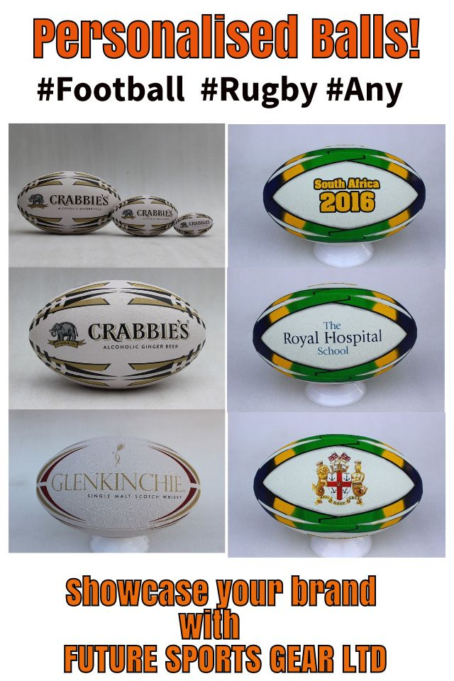 Rugby balls-Foot balls #anyballs Personalised with club colours/logos Maximise your organisation or clubs identity!