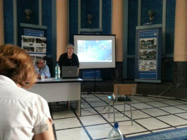 Conferinta arhitect Beldiman — at Universitatea Spiru Haret.