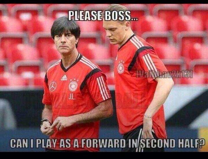Manuel Neuer, ladies and gentleman. He'll play forward, midfield, and defense regardless