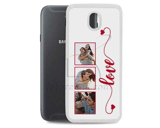 Cover in silicone Galaxy J7 Frame Love - 2017