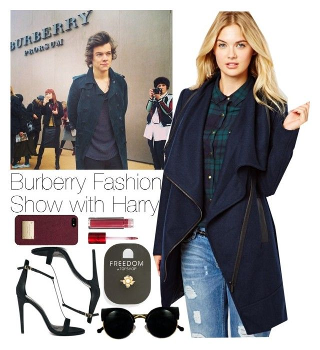 """""""Burberry Fashion Show with Harry"""" by style-857 ❤ liked on Polyvore featuring Vila Milano, River Island, Retrò, Michael Kors, Topshop and Lola Cosmetics"""