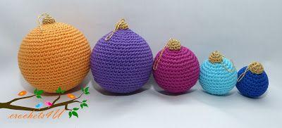 Crochets4U: gratis patroon kerstballen haken, Nederlands, Kerstmis