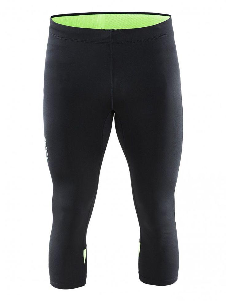 Craft Męskie Spodnie do biegania Prime Knickers Black/Green   MALL.PL