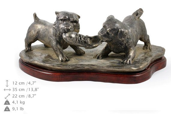 Norwich Terrier scene dog statue limited by ArtDogshopcenter