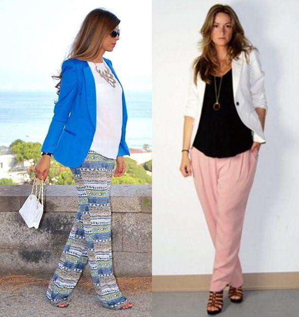 3_moda gestante_look para grávidas_look de inverno para gravidas_looks de trabalho para gestantes_moda para trabalhar_dicas de moda para grávidas_gravidas de blazer e calça pantalona