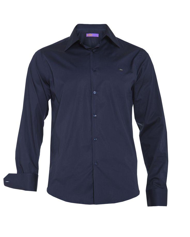 Men's denim blue shirt