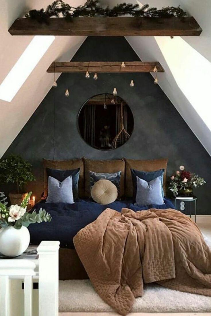 Ein Modernes Rustikales Schlafzimmer Ist Eines Das Eine
