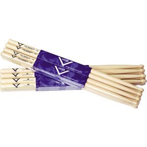 5B wood tip Vater Hickory Drumsticks - Wood, Buy 3 Get 1 Free