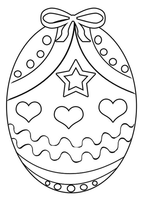Free Online Easter Egg 4 Colouring Page Kids Activity