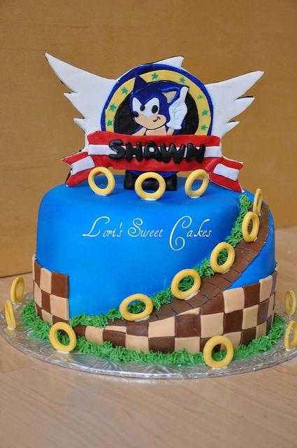 Sonic The Hedgehog Cake Flickr Photo Sharing Cakepins Com For Kids Pinterest Hedgehog Cake