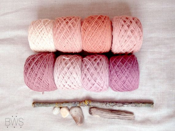 Black Friday SALE PEACH BLOSSOM Pink/ Hand dyed sock yarn/ Natural plant dyed wool yarn / Eco friendly/ Knitting/ Tablet weaving/ Viking reenactment  PEACH BLOSSOM - pink hand dyed sock yarn. Yarn is plant dyed with Rose madder  This is a 2 ply 100% Lithuanian sheep wool yarn from a small farm near my home town.  This woolen yarn is perfect for mittens sock, tablet weaving, loom weaving and crochet.  • Peach blossom pink – Rose madder (Rubia tinctorum)