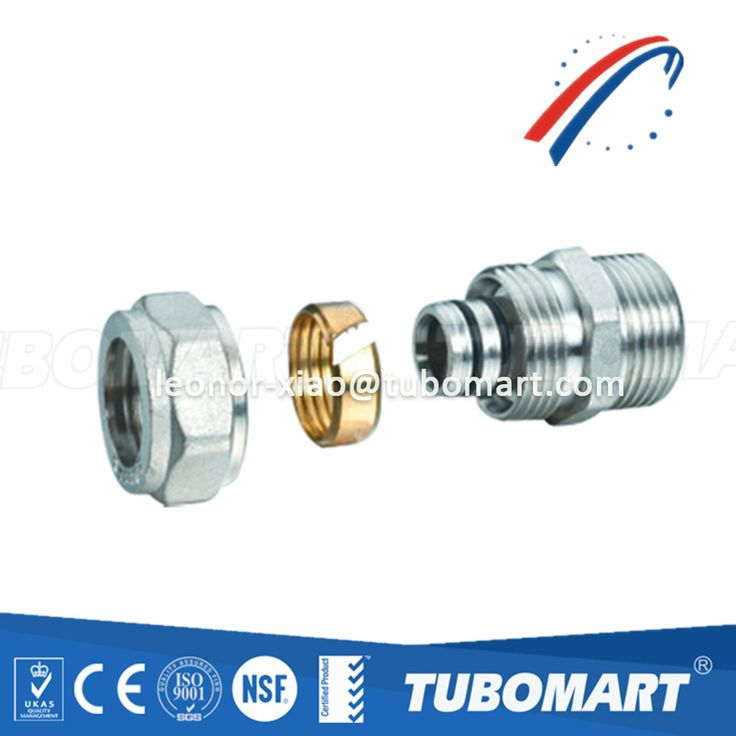 China brass fitting manufacturer TM-100 male straight screw for pex-al-pex pipe ISO 17484 approved