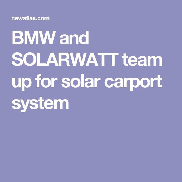 BMW and SOLARWATT team up for solar carport system