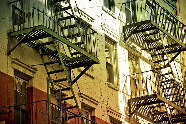 Fire Escape New York City 1940s : Fire escapes little italy new york city