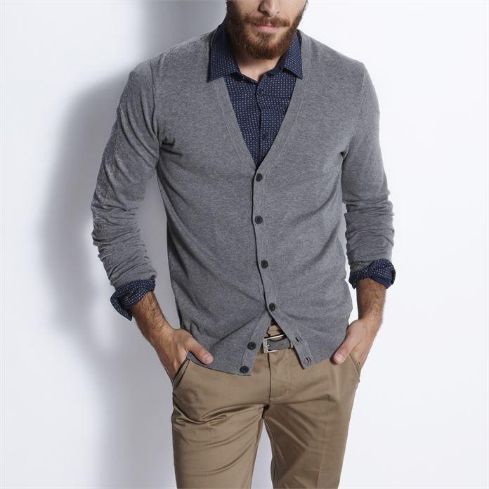 Gilet boutonné Gris Anthracite homme – la mode homme sur Jules.com
