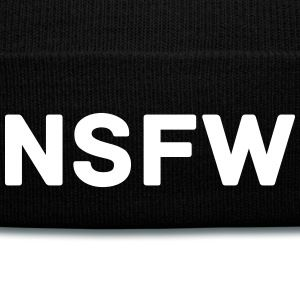 NSFW beanie hat as worn by Cara Delevingne