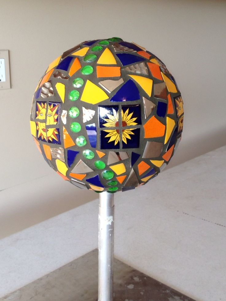 My First Mosaic Bowling Ball Art Pebble Or Stone