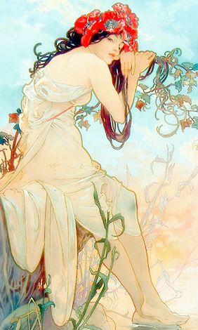 ♥ little bird ♥, claudia-cher: Art by Alphonse Mucha