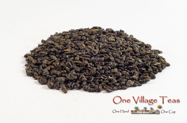 Superior Gunpowder Green Tea  Smoky oak notes highlighted with the sweetness of green tea.  www.onevillageteas.com