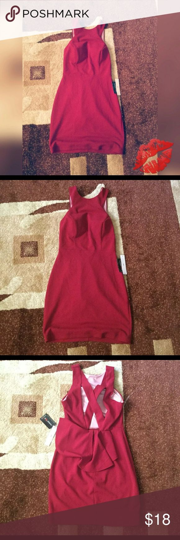 Teeze Me Red Dress Size 1/2 -New with tag - Don't need to wear a bra  Red color size 1/2 or x small Teeze Me Dresses Mini